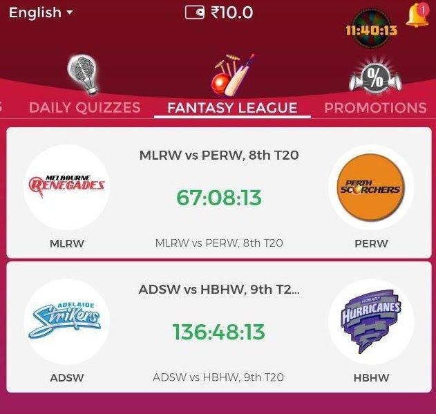winzo app fantasy league