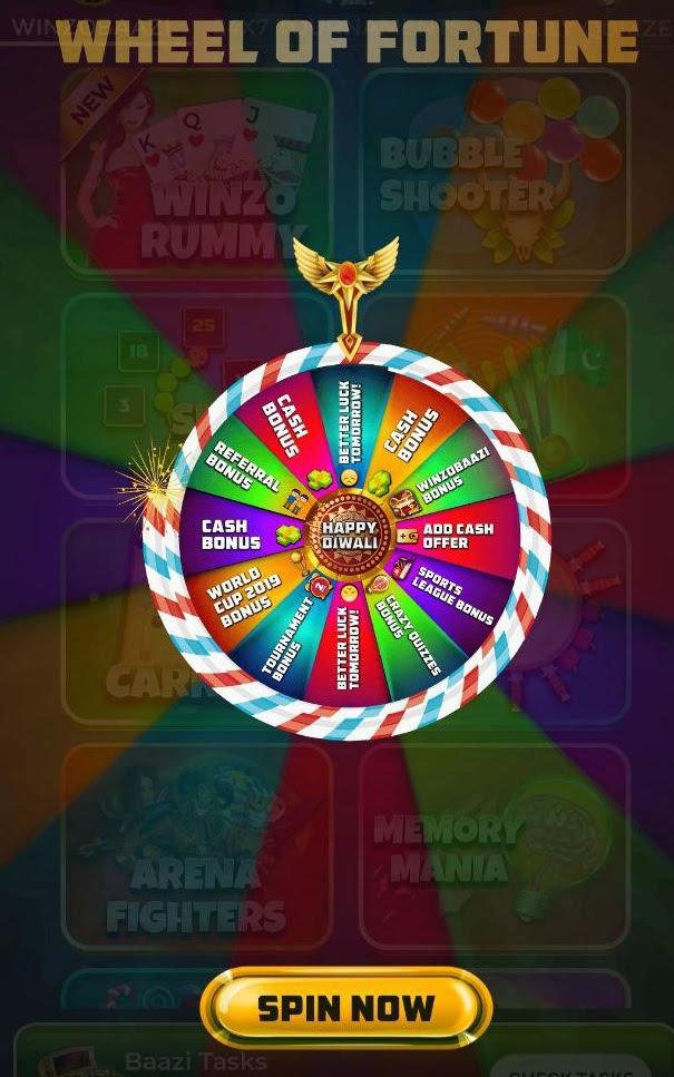 winzo app wheel fortune